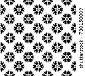 black floral ornament on white... | Shutterstock .eps vector #730150009