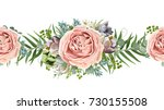 vector floral seamless pattern... | Shutterstock .eps vector #730155508