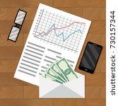 analysis of payroll salary....   Shutterstock .eps vector #730157344