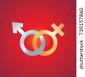 symbol of gender identity. male ... | Shutterstock .eps vector #730157860