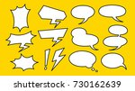 balloon comics | Shutterstock .eps vector #730162639