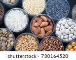 seeds and cereals in the... | Shutterstock . vector #730164520