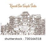 sketch of konark sun temple...   Shutterstock .eps vector #730166518