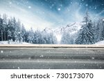 winter road | Shutterstock . vector #730173070