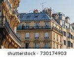 paris residential buildings.... | Shutterstock . vector #730174903