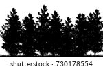 vector silhouette of forest on... | Shutterstock .eps vector #730178554