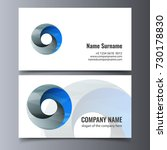 vector business card template.... | Shutterstock .eps vector #730178830
