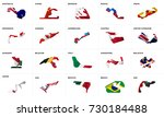 complete set of circuits for f1 ... | Shutterstock .eps vector #730184488