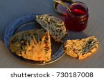 artisan made savoy olive loaf...   Shutterstock . vector #730187008