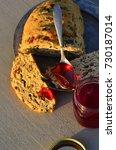 artisan made savoy olive loaf...   Shutterstock . vector #730187014
