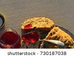 artisan made savoy olive loaf...   Shutterstock . vector #730187038