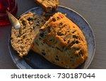 artisan made savoy olive loaf...   Shutterstock . vector #730187044