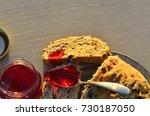artisan made savoy olive loaf...   Shutterstock . vector #730187050