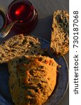 artisan made savoy olive loaf...   Shutterstock . vector #730187068