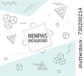 memphis style vector... | Shutterstock .eps vector #730200214