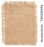 burlap fabric patch label ... | Shutterstock . vector #730200496