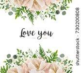 vector card floral flower...   Shutterstock .eps vector #730200808