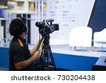 freelance video photographer...   Shutterstock . vector #730204438