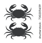 crab silhouette. isolated crab... | Shutterstock .eps vector #730205659
