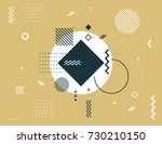 abstract geometric composition. ... | Shutterstock .eps vector #730210150