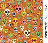 vector pattern mexican sugar... | Shutterstock .eps vector #730211464