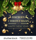 merry christmas and happy new...   Shutterstock .eps vector #730212190