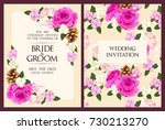 vintage wedding invitation | Shutterstock .eps vector #730213270