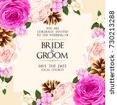 vintage wedding invitation | Shutterstock .eps vector #730213288