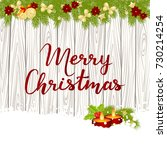 merry christmas card with... | Shutterstock .eps vector #730214254
