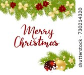 merry christmas card with... | Shutterstock .eps vector #730214320