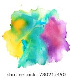 colorful abstract watercolor... | Shutterstock .eps vector #730215490