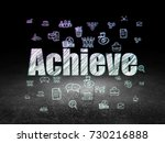 business concept  glowing text... | Shutterstock . vector #730216888