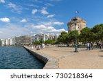 thessaloniki  greece  ... | Shutterstock . vector #730218364
