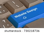 keyboard with key for website... | Shutterstock . vector #730218736