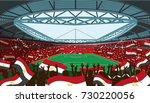 egypt soccer stadium | Shutterstock .eps vector #730220056
