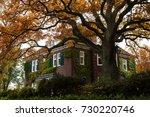 beautiful brick house in... | Shutterstock . vector #730220746