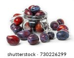 fresh plum isolated on white... | Shutterstock . vector #730226299