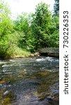 bridge minnehaha creek | Shutterstock . vector #730226353