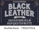 vintage handcrafted vector font ... | Shutterstock .eps vector #730227016