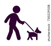dog with belt walking icon | Shutterstock .eps vector #730229338