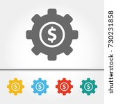 business gears single icon... | Shutterstock .eps vector #730231858