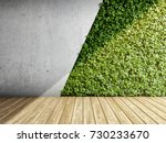 wall in modern interior with... | Shutterstock . vector #730233670