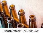 brown glass bottles for beer... | Shutterstock . vector #730234369