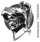 dead knight | Shutterstock .eps vector #730235104