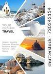photo collage greece. greek... | Shutterstock . vector #730242154