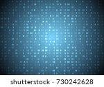 vector hexadecimal code blue... | Shutterstock .eps vector #730242628
