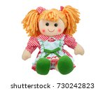 Smiling Sit Cute Rag Doll...