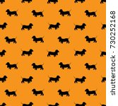 seamless pattern with black... | Shutterstock . vector #730252168