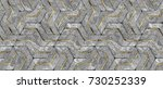 3d stone geometry panels with... | Shutterstock . vector #730252339