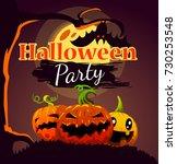 halloween party design poster ... | Shutterstock .eps vector #730253548